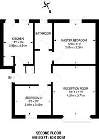 Large floorplan for Kenton Lane, Harrow, HA3