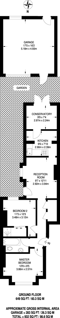 Large floorplan for Berrymead Gardens, Acton, W3