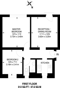 Large floorplan for Hartington Court, Stockwell, SW8