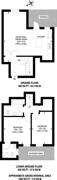Large floorplan for East Dulwich Grove, East Dulwich, SE22