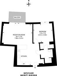 Large floorplan for Wood Crescent, White City, W12