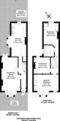Large floorplan for Ivydale Road, Nunhead, SE15