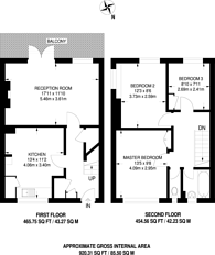 Large floorplan for The Heights, Harrow, UB5