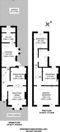 Large floorplan for Kincaid Road, Peckham, SE15