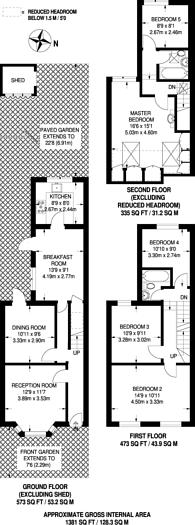 Large floorplan for Westdown Road, Leyton, E15