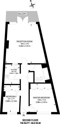 Large floorplan for Pierhead Lock, Canary Wharf, E14