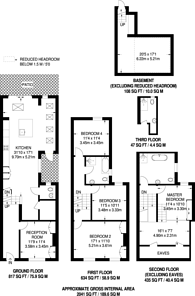 Large floorplan for Sedlescombe Road, Fulham, SW6
