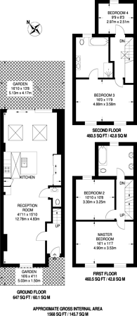 Large floorplan for Latchmere Road, Battersea, SW11