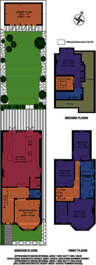 Large floorplan for Chevening Road, Queen's Park, NW6