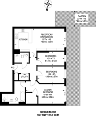 Large floorplan for Neville House, Westminster, SW1P