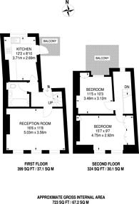 Large floorplan for Lucerne Road, Highbury and Islington, N5