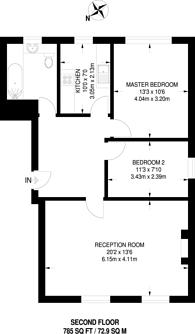 Large floorplan for Adamsrill Road, Sydenham, SE26