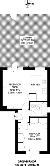 Large floorplan for Addiscombe Grove, East Croydon, CR0