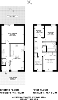 Large floorplan for Corry Drive, Brixton, SW9