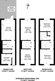 Large floorplan for Portgate Close, Maida Vale, W9