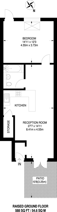 Large floorplan for Taffy's How, Mitcham, CR4
