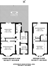 Large floorplan for Westbourne Terrace Road, Little Venice, W2