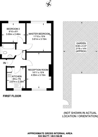 Large floorplan for Kelman Close, Clapham, SW4