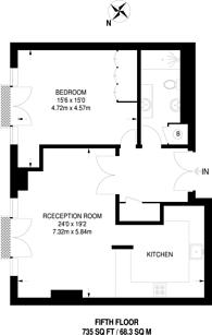 Large floorplan for Presidents Quay House, St Katharine Docks, E1W
