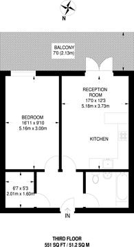 Large floorplan for Elm Road, Wembley, HA9