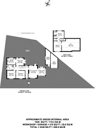 Large floorplan for Hillcroome Road, Sutton, SM2