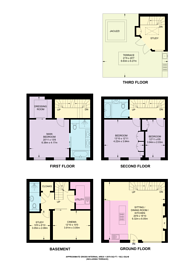 Large floorplan for Stanhope Mews East, South Kensington, SW7