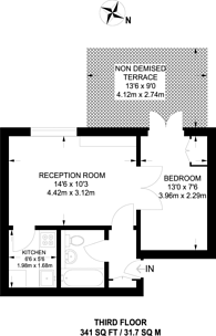 Large floorplan for Cranley Gardens, South Kensington, SW7