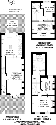 Large floorplan for Sternhall Lane, Peckham Rye, SE15