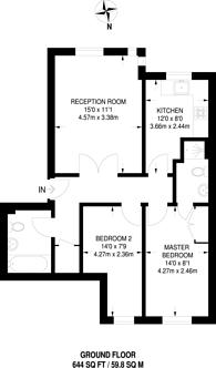 Large floorplan for Woods Road, Peckham, SE15