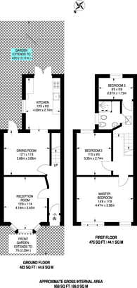 Large floorplan for Beechfield Road, Harringay, N4