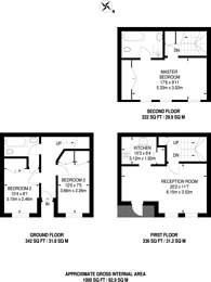 Large floorplan for Rutland Mews, St John's Wood, NW8