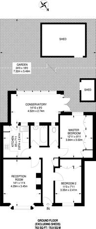Large floorplan for Godley Road, Earlsfield, SW18
