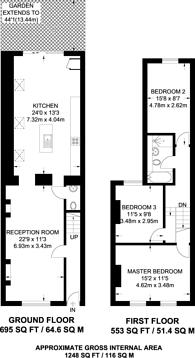 Large floorplan for Alma Grove, Bermondsey, SE1