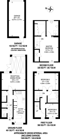 Large floorplan for Henderson Avenue, Queen Elizabeth Park, GU2