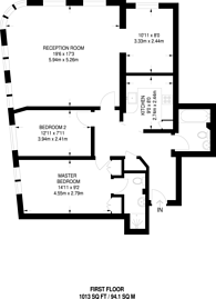 Large floorplan for Sanctuary Court, Wapping, E1W