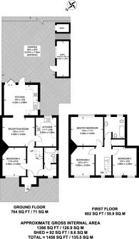 Large floorplan for Mount Road, Merton, CR4