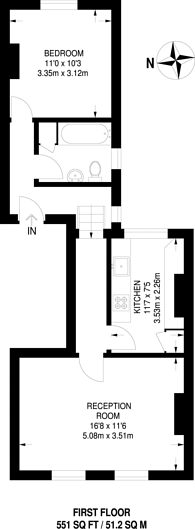 Large floorplan for Garratt Lane, Earlsfield, SW18