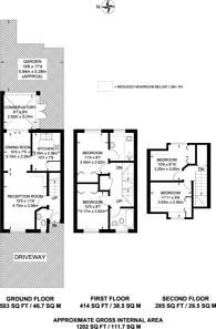 Large floorplan for Heathfield Drive, Mitcham, CR4