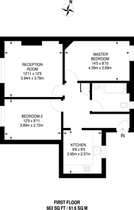 Large floorplan for Loughborough Junction, Brixton, SW9