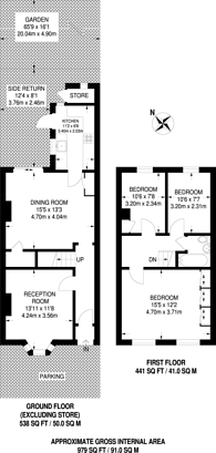Large floorplan for Swinderby Road, Wembley, HA0