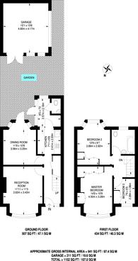 Large floorplan for Carlyon Road, Alperton, HA0