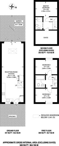 Large floorplan for Vinegar Street, Wapping, E1W