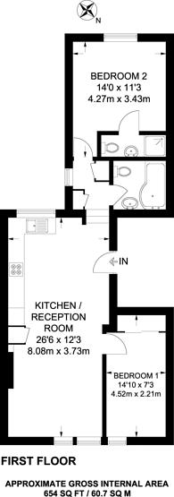 Large floorplan for Archway Road, Highgate, N6