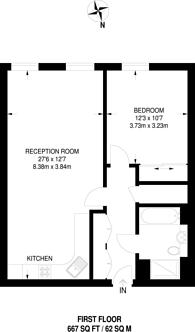 Large floorplan for Arlington Road, Camden, NW1