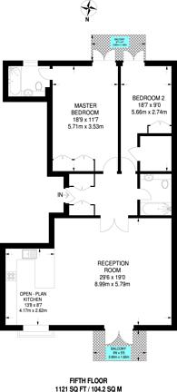 Large floorplan for Clink Street, Borough, SE1