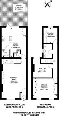 Large floorplan for Mina Road, Elephant and Castle, SE17
