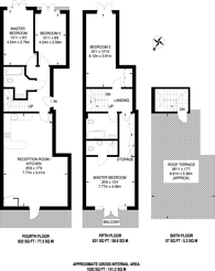 Large floorplan for Cosmos Apartments, Canary Wharf, E14