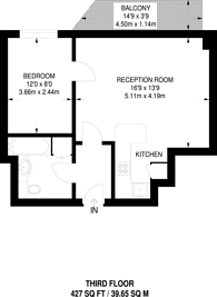 Large floorplan for Cromwell Road, Kensington, SW5