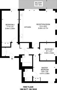 Large floorplan for Grove House, Hackney, E9