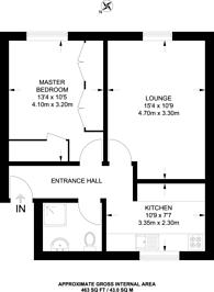 Large floorplan for Greenford Road, Sudbury, HA1